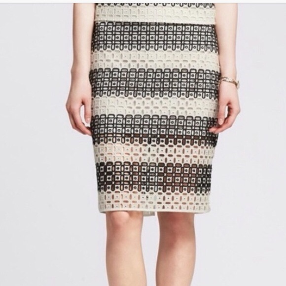 01d964587d Banana Republic Skirts | Rugby Lace Pencil Skirt Size 16 | Poshmark